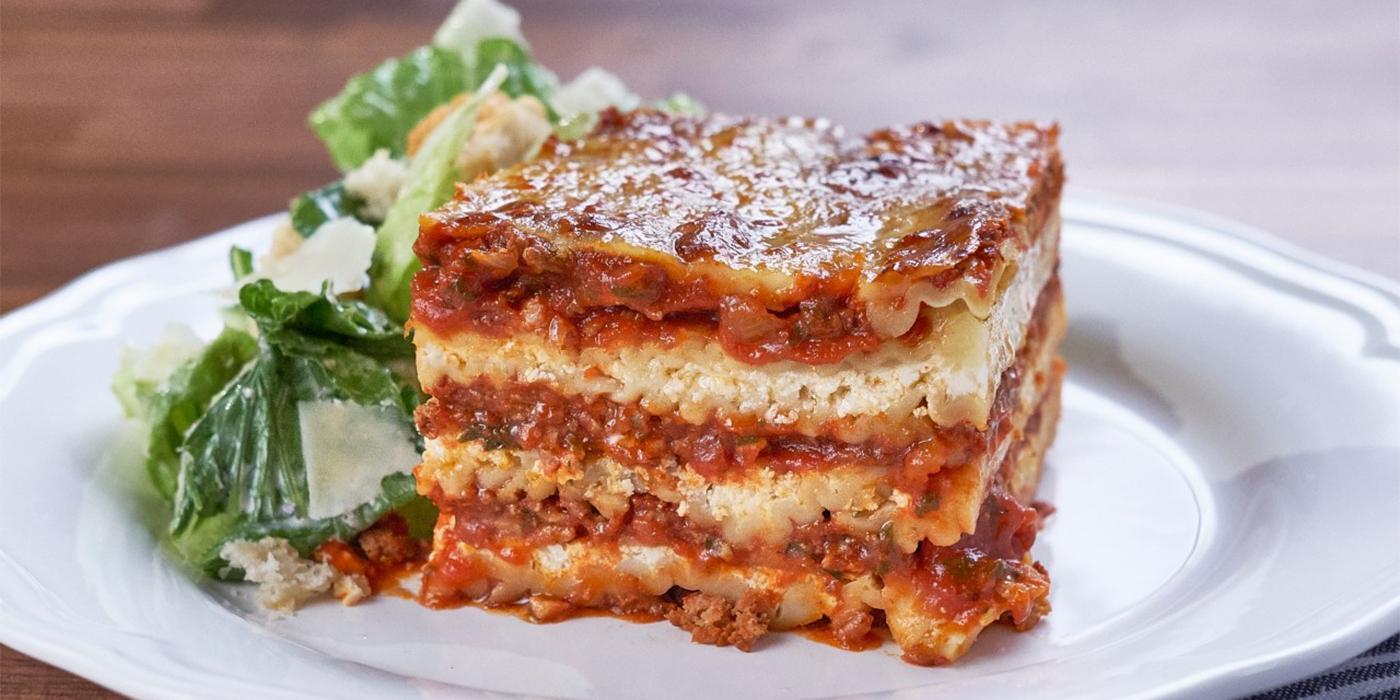 Cheesiest Meat Lasagna
