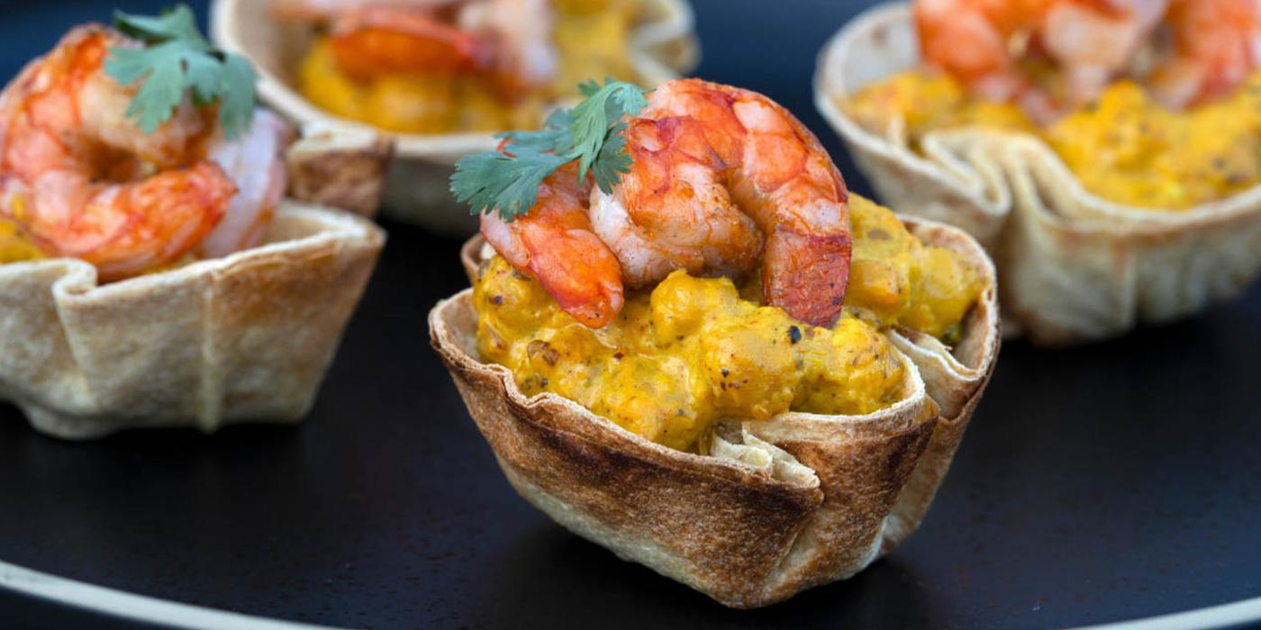 Curried Shrimp Cups