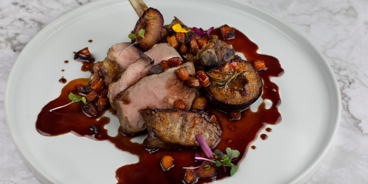 Roasted Plums And Veal