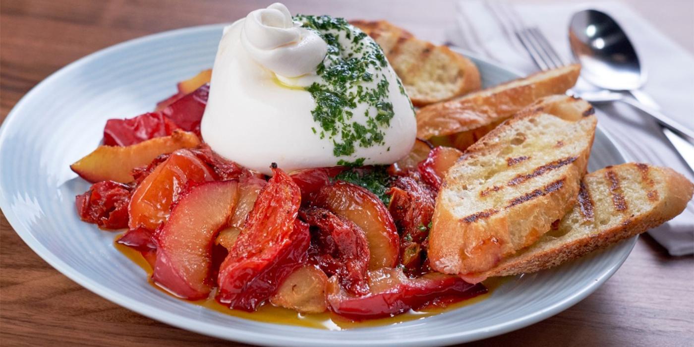 Tomato & Plum Toasts