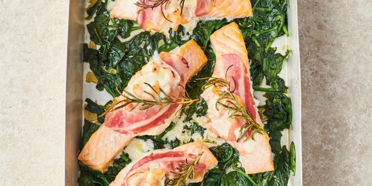 Prawn Stuffed Salmon